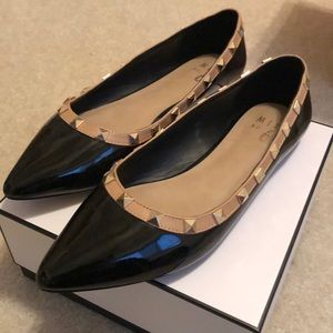 Studded Pointed Toe Flat